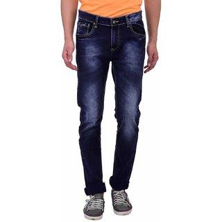 Blue Buddha Men\'s Narrow fit light washed Dark Blue Jeans