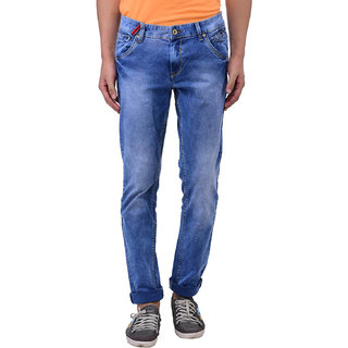 Blue Buddha Men\'s Skinny-fit Light Blue Jeans