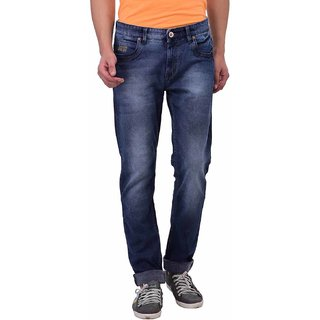 Blue Buddha Men\'s Narrow fit light washed Grey Jeans