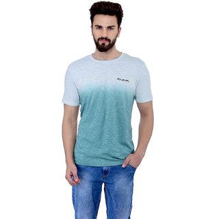 Blue Budhha Men\'s Round neck Green Dip Dye T-shirt