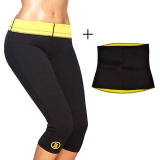 Gold Dust Body Slim Sweat Shapewear Pant + Belt Combo (XXL)