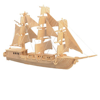 Magideal DIY 3D Wooden Jigsaw Sailing Boat Modeling Construction Kit Toy Puzzle Gift