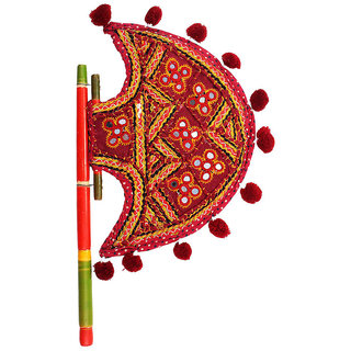 Gomati Ethnic  Kutch Gujarati Art Work Ethnic Colorful Hand Fan-334