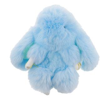 Magideal Cute Soft Fluffy Handbag Key Chain Pendant Women Gifts Light Blue