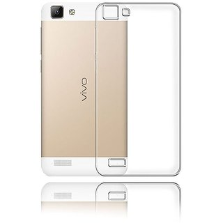 Ultra Thin Silicone Soft Case Back Cover for VIVO V1- Transparent
