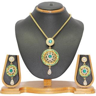 Soni Art Jewellery Sky Blue color Pendant Set 0110D