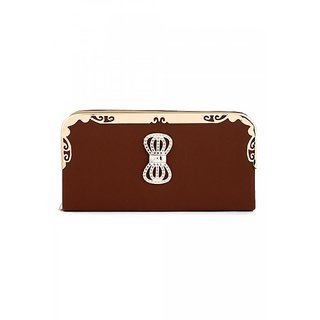 BRENDON U.K BROWN WOMEN'S CLUTCH