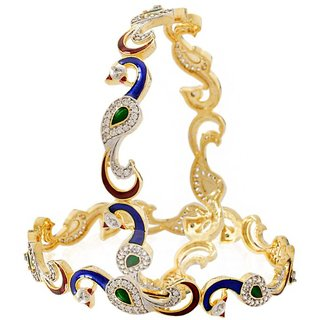 Pchalk Mayur American Diamond Studded Bangles