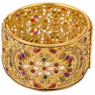Pchalk Antique Multicolor American Diamond Bangle Kada