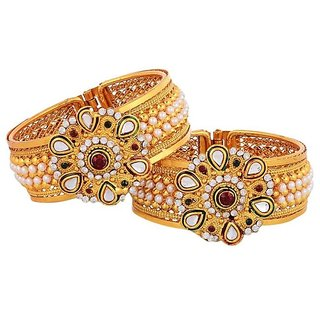 Pchalk Antique Gold Plated Bangles