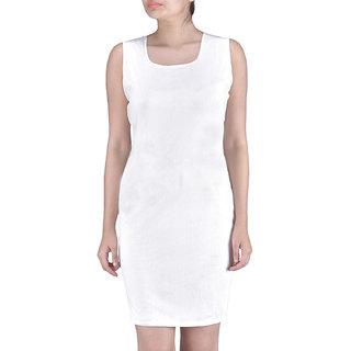 Lakesh White Stylish Mini Dress