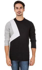 Aurelio Marco Stylish Designed White Millange Black Round Neck Men T Shirt