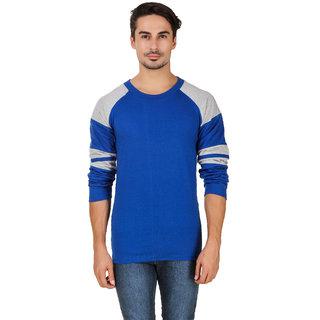 Aurelio Marco Stylish Designed Royal Blue Millange Round Neck Men T Shirt