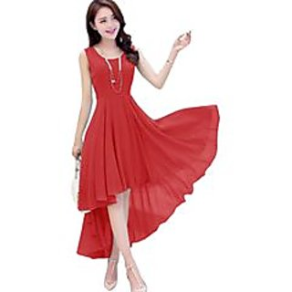 Cotton Western Frocks RedFrock