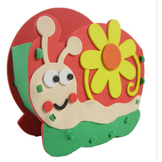 Magideal Kids Diy Handmade Snail Pen Container Holder Desktop Organizer Craft Kits