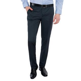 Only Vimal Blue Slim Fit Formal Trouser for Men