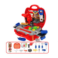 Magideal Kids Childrens Builder Tool Construction Kit Pretend Role Play DIY Set Red