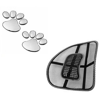 Auto Need Car Back Rest  Leopard Sticker Special Combo Pack For  Renault Koleos