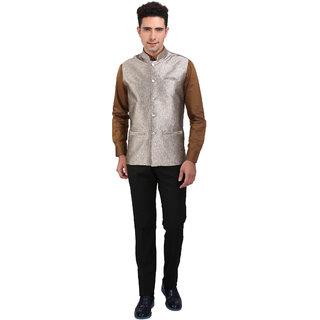 Nu Abc Golden Design Nehru Jacket For Jacket