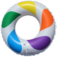 Magideal Inflatable Swim Ring Fun Rainbow Color Swimming Pool Float Raft 50cm