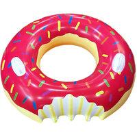 Magideal Inflatable Swim Ring Fun Bite Shape Donut Swimming Pool Float Raft 80cm