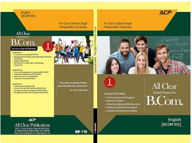 All Clear B Com Ist Semester Set of 4 subjects