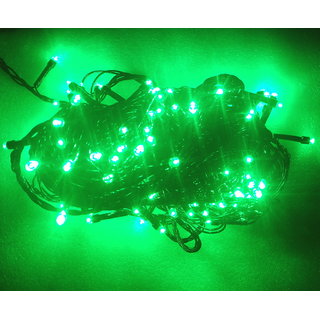 Diwali Decorative 25 Meter led light string green for festival party puja home decor christmas New year