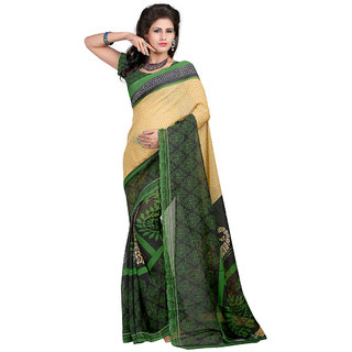 Trendz Apparels Green Georgette Printed Saree With Blouse