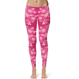 Qgal floral collection digital printed 4 way stretch legging