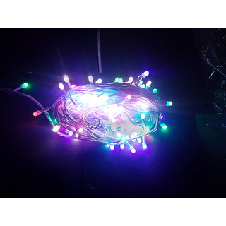 DIWALI DECORATIVE MULTICOLOR 45 METER  LED LIGHT BULB STRING  for festival party puja home decor christmas New year