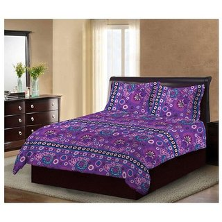 Bombay Dyeing Mistyrose Double Bedsheet With Two Pillow Covers  Ethnic