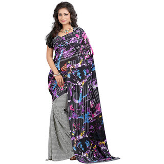 Trendz Apparels Multicolor Georgette Printed Saree With Blouse