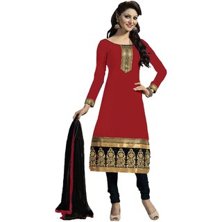 Snoby Red Chanderi Suit (SBY-TFW124-04-G4)