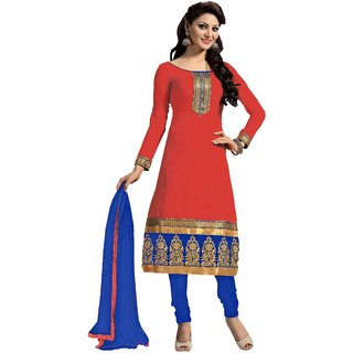 Snoby Red Chanderi Suit (SBY-TFW124-09-G9)