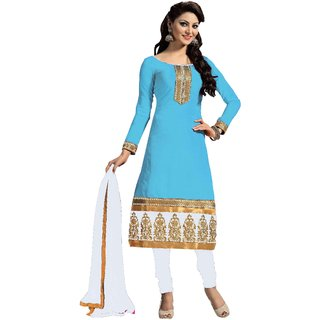 Snoby Sky Blue Chanderi Suit (SBY-TFW124-11-G11)