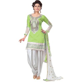 Snoby Green Chanderi Suit (SBY-TFW68-06-G6-Green)