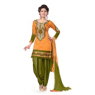 Snoby Orange Chanderi Suit (SBY-TFW68-06-G6-Orange)