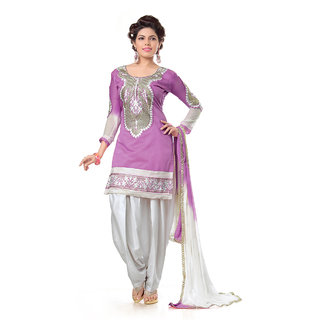 Snoby Purple Chanderi Suit (SBY-TFW68-06-G6-Purple)