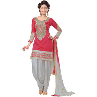 Snoby Red Chanderi Suit (SBY-TFW68-06-G6-Red)