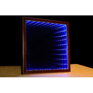 Rectangular Infinity Mirror in Red Green Blue color with Fiber Frame