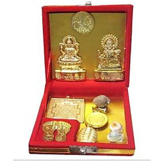 indoselection Shree Dhan Laxmi Kuber Dhan Metal Brown Varsha Yantra
