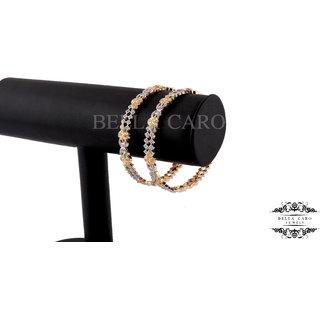 Bella Caro Gold Plated Bangles For Women -som3517