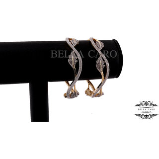 Bella Caro Gold Plated Bangles For Women -som3562