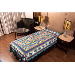 Art Bazar 1 Single Cotton Printed Bed Sheet WithOut Pillow Covers