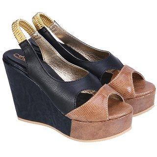 Fashion Mafia Black Leather Heels