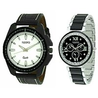 Tizoto Black Color Analog Watch For Men And Women 710