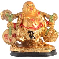 12cm Big Premium Quality Laughihgn Buddha ,symbol Of Happiness And Positive Energy In Home