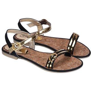Fashion Mafia Black Sandals