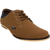 D'Solz Brown Synthetic Leather Lace Up Corporate Casual Shoes