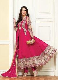 Timeless Hot Pink Georgette Anarkali Suit